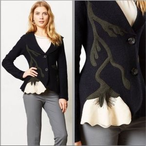 Anthro Rosie Neira moonflower wool jacket RARE